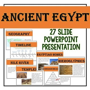 Ancient Egypt: PowerPoint and Interactive Notebook