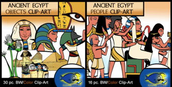 Ancient Egypt People and Objects COMBO 46 pc. Clip-Art  (B