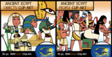 Ancient Egypt People and Objects COMBO 46 pc. Clip-Art  (BW and Color!)