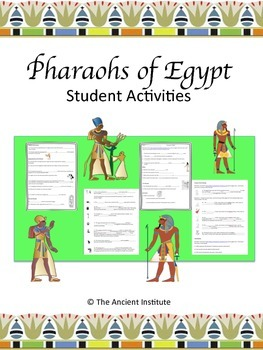 Ancient Egypt Pharaohs Student Activities Bundle