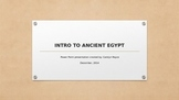Ancient Egypt Power Point