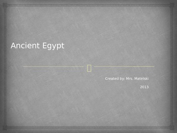 Ancient Egypt Power Point 6th grade