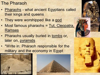 Ancient Egypt PowerPoint and Guided Notes