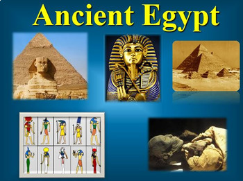 Ancient Egypt PowerPoint with Outline and Engineering an Empire Video Bundle
