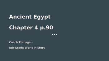 Ancient Egypt Ppt. Notes (With links)