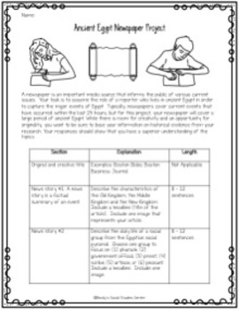Ancient Egypt Project: Create a Newspaper