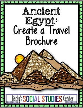 ancient egypt project create a travel brochure tpt