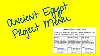 Ancient Egypt - Project Menu