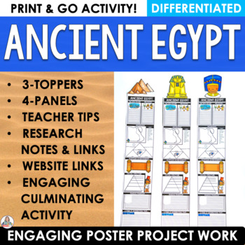 Differentiated Ancient Egypt Project Posters