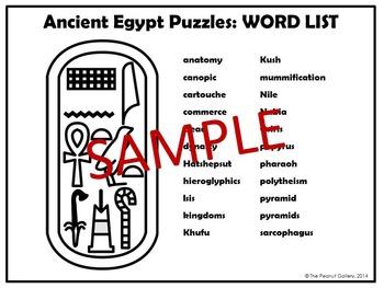 Ancient Egypt Puzzles