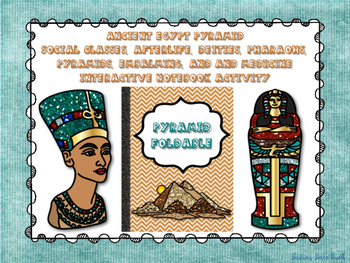 Ancient Egypt - Pyramid Foldable - Interactive Notebook Activity