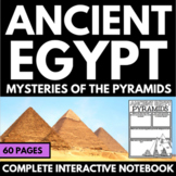 Ancient Egypt Unit on Pyramids with Questions, Information, Project