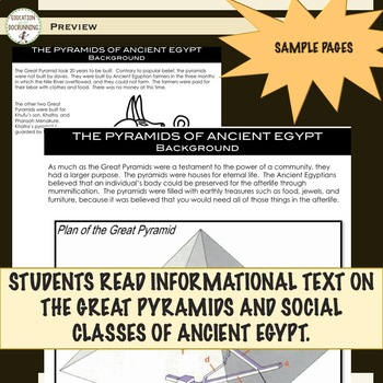 Ancient Egypt Pyramids and Social Classes Station Activities