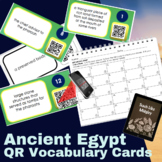 Ancient Egypt QR Code Vocabulary Cards