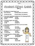 Ancient Egypt Quiz: Quick Check-Up!