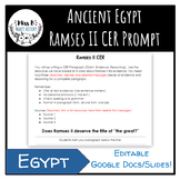 Ancient Egypt Ramses II CER Prompt