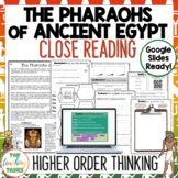 Ancient Egypt Reading Comprehension Passages and Questions