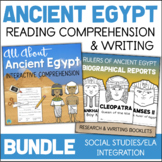 Ancient Egypt Reading Comprehension & Writing Activities