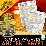 Ancient Egypt Reading Passages - Comprehension Questions R