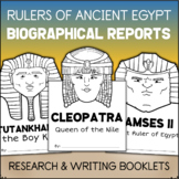 Ancient Egypt Report Writing BIOGRAPHY TEMPLATES King Tut, Cleopatra, Ramses II