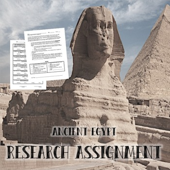 Ancient Egypt Research Assignment