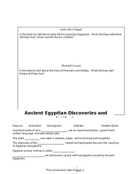 Ancient Egypt Research Flipbook