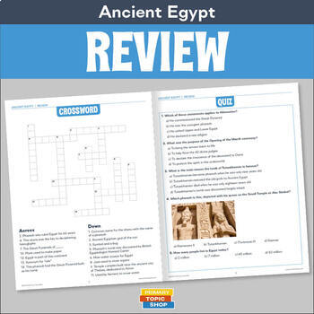 Ancient Egypt Review Worksheets Teaching Resources TpT