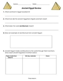 Ancient Egypt Review/Assessment Freebie