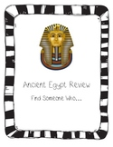 Ancient Egypt Review Find Someone Who...