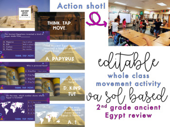 Ancient Egypt Review | Whole Class Movement Activity | Editable