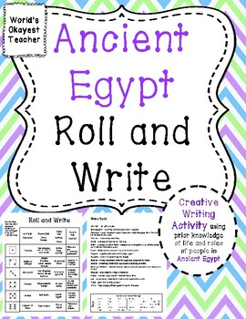 Ancient Egypt: Roll and Write