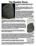 Ancient Egypt Rosetta Stone Reading and Questions Worksheet