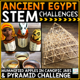 Ancient Egypt Activities STEM Challenges | Ancient Egypt Projects Pyramids