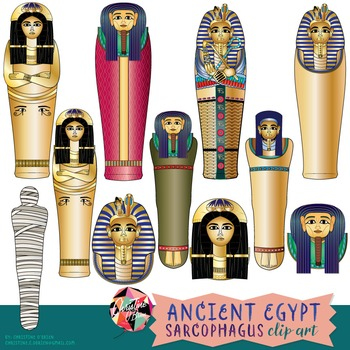 Ancient Egypt Sarcophagus Clip Art