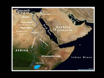 Ancient Egypt Satellite Map Physical Geography PowerPoint Introduction
