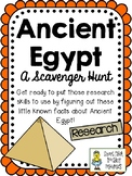 Ancient Egypt - Scavenger Hunt Activity and KEY