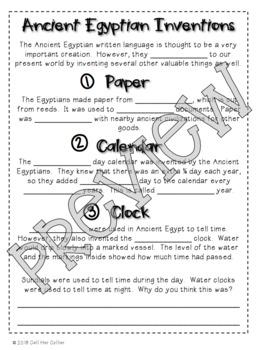 Ancient Egypt - Social Studies Interactive Notebook