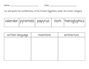 Ancient Egypt Sort