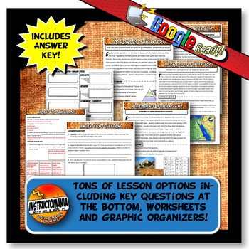 Ancient Egypt Stations with Key Questions Graphic Organizer