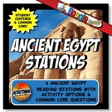 Ancient Egypt Stations Graphic Organizer & Google Reading Investigation