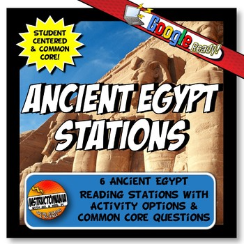 Ancient Egypt Stations Graphic Organizer & Google Reading Investigation