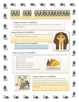 Ancient Egypt Study ~ A Self Directed Unit Research Project