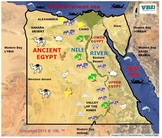 Ancient Egypt Study Cards and Map