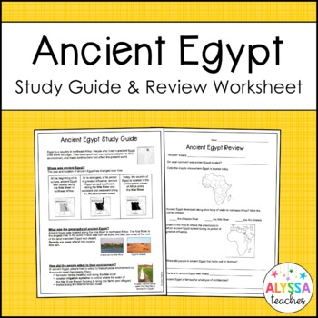 Ancient Egypt Study Guide and Review Worksheet