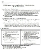 Ancient Sumer & Egypt - Comparing & Contrasting Early River Valley Civilizations