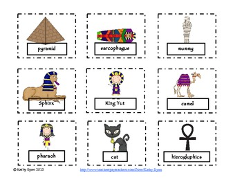 Syllable Sort--Ancient Egypt Common Core Connected