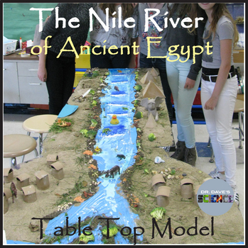 Ancient Egypt Model of Nile River