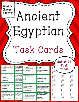Ancient Egypt: Task Cards
