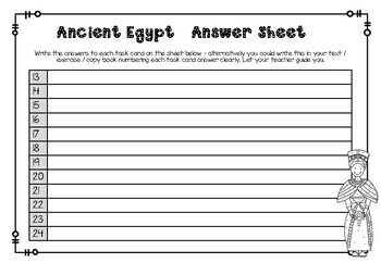 Ancient Egypt - Task Cards Set 2