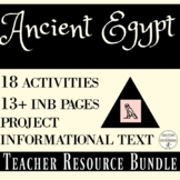 Ancient Egypt Unit Activities, Projects, Notes, Text Resource  (SAVE!)